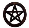 Wooden Pentagram Altar Tile 10cm