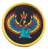 """Goddess Isis 3"""" Embroidered Sew On Patch"""