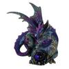 Dragon Statue Guarding Blue Orb - 20cm