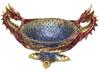 Dragon Bowl Two Headed Resin Statue 30cm