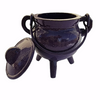 Cast Iron Cauldron Small Purple with Lid 10cm