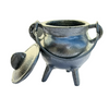 Cast Iron Cauldron Small Silver with Lid 10cm