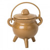 Cast Iron Cauldron Small Gold with Lid 10cm