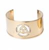 Triquetra Brass Cuff Bracelet 3.5cm