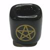 Chime Wish Candle Holder Ceramic Black Pentacle 26mm
