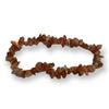 Sunstone Dark Gemstone Chip Stretch Bracelet
