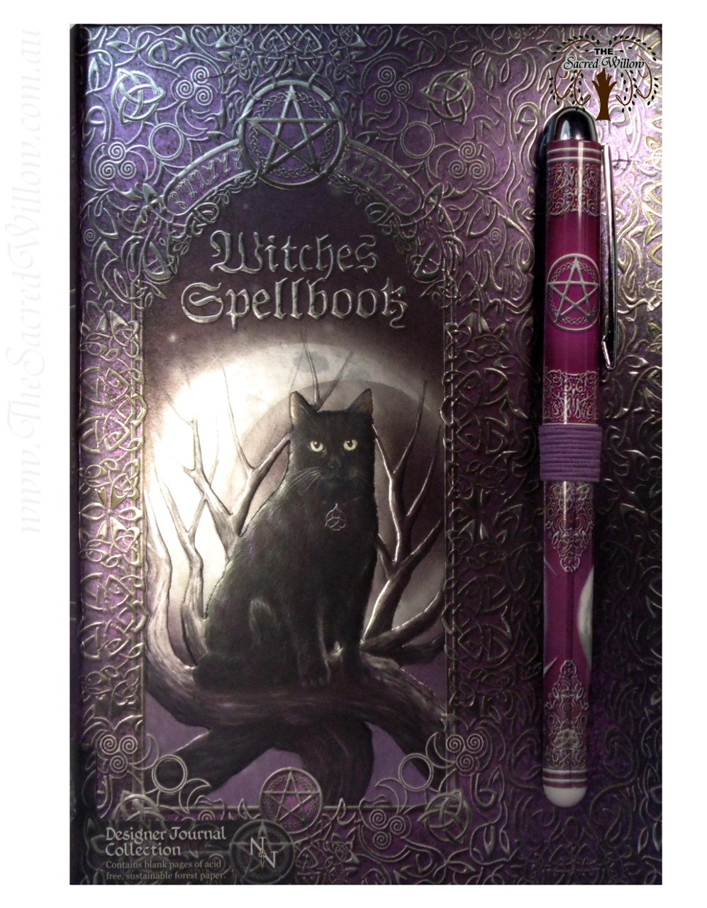 Luna Lakota Witches Spell Book / Journal with Pen 17x12cm