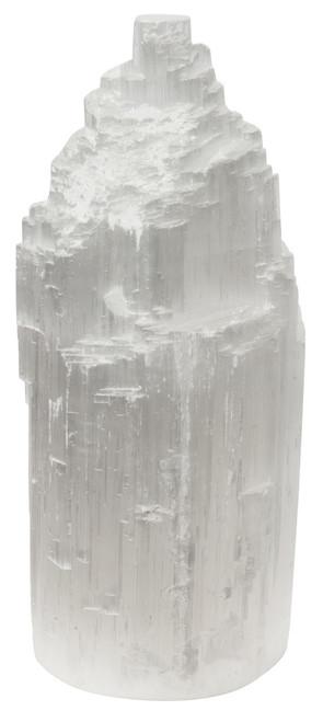 Large 25cm Selenite 'Stalagmite' Crystal Lamp