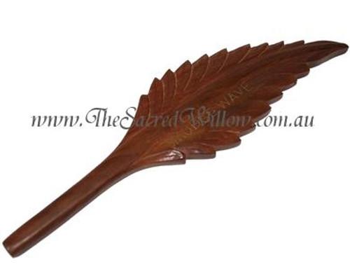 Wooden Smudge Wave - Leaf Design