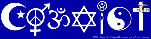 Coexist Multi Religion bumper sticker 29cm x 7.5cm