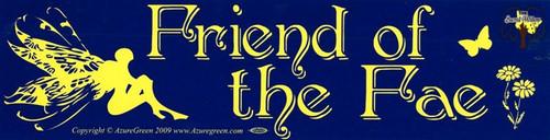 Friend of the Fae bumper sticker 29cm x 7.5cm