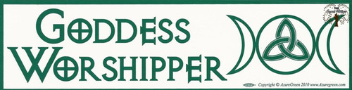 Goddess Worshipper bumper sticker 29cm x 7.5cm
