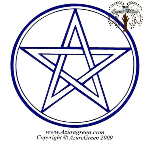 Purple Pentagram Bumper Sticker 8.1cm x 7.6cm