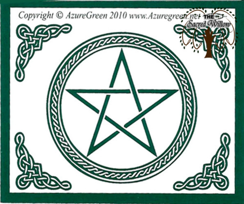 Celtic Pentagram Bumper Sticker 8.1cm x 7.6cm
