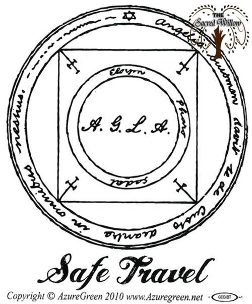 Safe Travel Bumper Sticker 9.2cm x 7.7cm