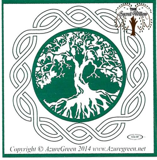 Tree of Life Bumper Sticker 7.5cm x 7.5cm