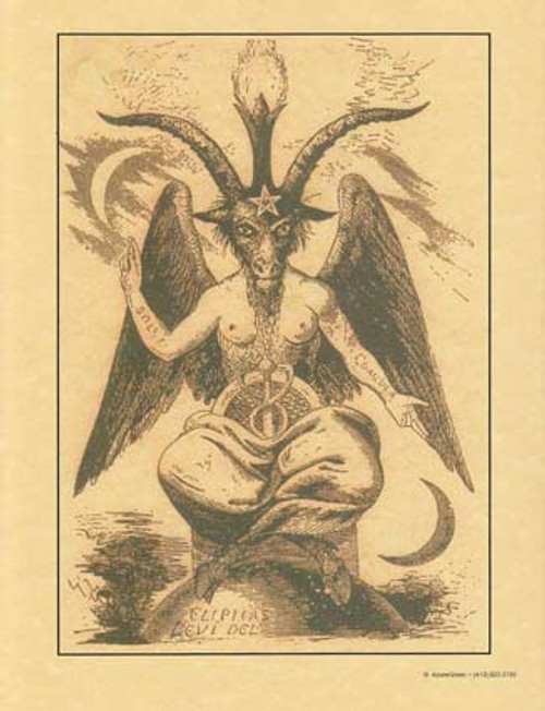 Baphomet Poster on Parchment A4