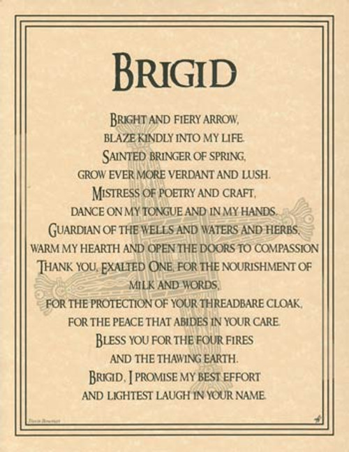 Brigid Poster on Parchment A4