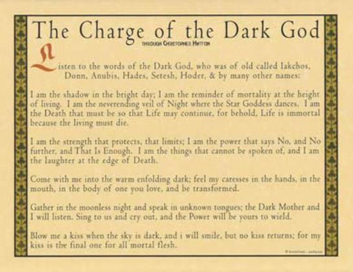 Charge of the Dark God Poster on Parchment A4