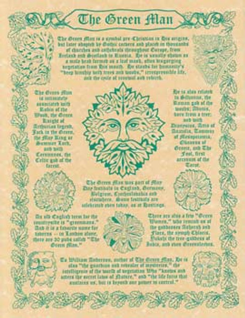 Greenman Poster on Parchment A4