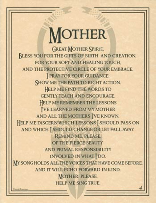 Great Mother Spirit Poster on Parchment A4