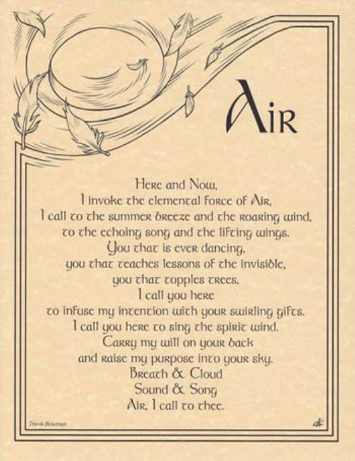 Air Invocation Poster on Parchment A4