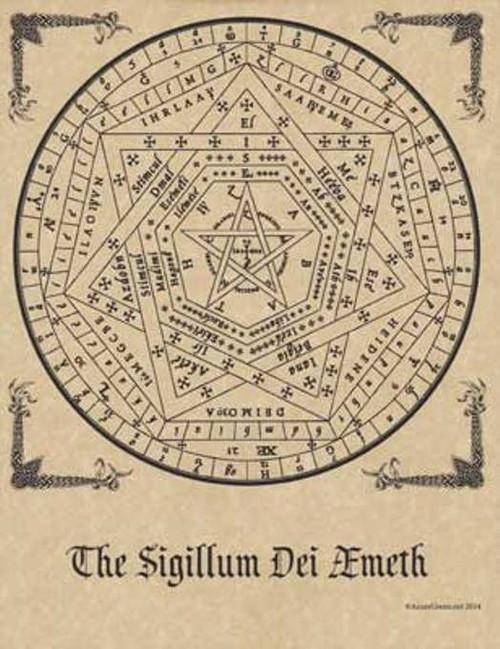 Sigillum Dei Aemeth Poster on Parchment A4