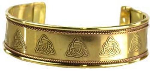 Triquetra Copper and Brass Cuff Bracelet