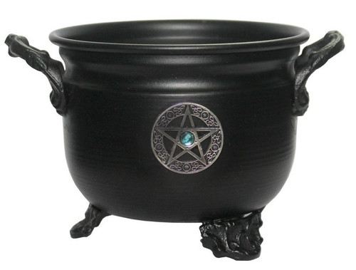 11cm Black Pentagram Talisman Cauldron
