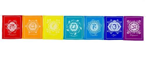 Chakra Prayer Flag Cotton 142cm