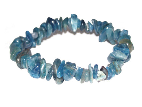 Apatite (Blue) Gemstone Chip Stretch Bracelet