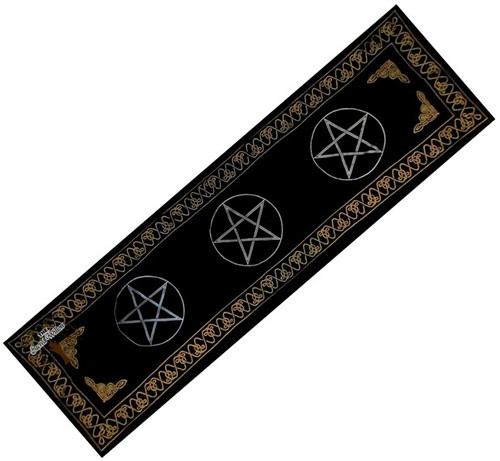 180cm Three Pentagram Altar or Tarot Cloth