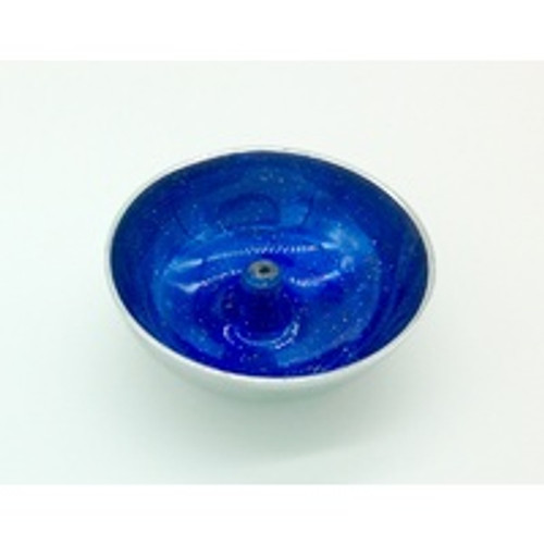 Aluminium Incense Dish Blue with Glitter Incense Holder