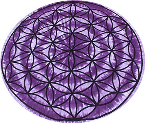 Round Flower of Life Tapestry 60 inch 100% Cotton