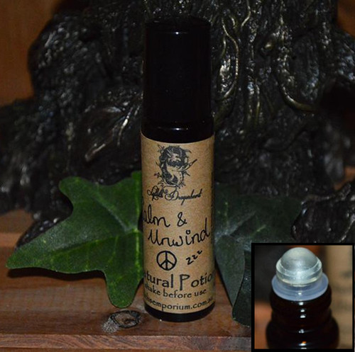 Calm & Unwind anxiety Potion, the potion for those who feel stressed out, have trouble sleeping, need to relax and unwind or feel a little over excited. This potion will help you chill out, like a chill pill only you rub it on your wrists and temples
