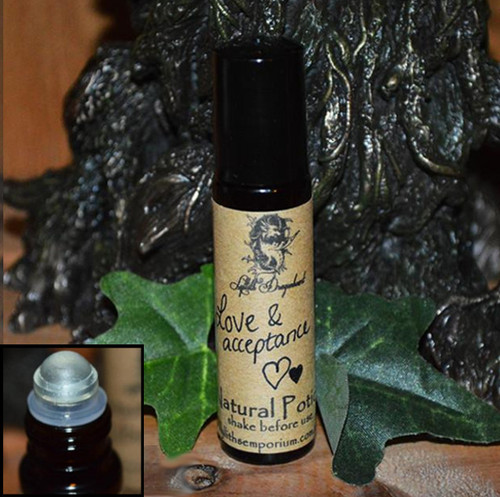 Love & Acceptance Potion is a special little potion, it provides comfort, encourages genuine love, self acceptance, self-love, self confidence and opens & balances the heart chakra.