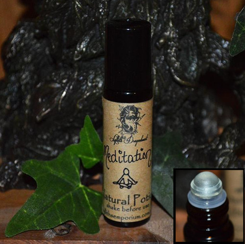 Meditation Potion, this little gem is fr those who find it hard to meditate, or those looking for help obtaining a deeper meditative state. It is also wonderful for use before and during divination, psychic readings and mediumship.