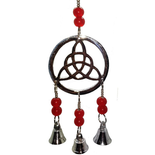 Chrome Plated Triquetra Wind Chime