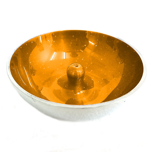 Aluminum Incense Dish Yellow with Glitter Incense Holder