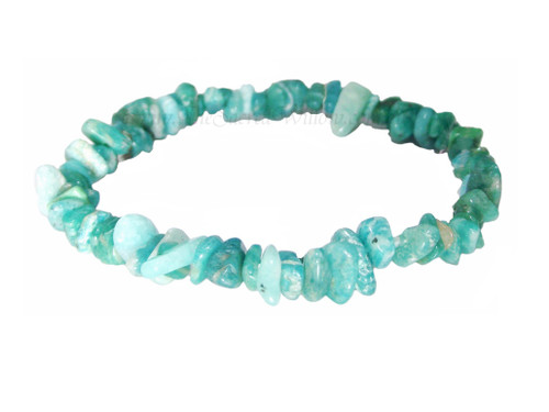 Amazonite (Russia) Gemstone Chip Stretch Bracelet