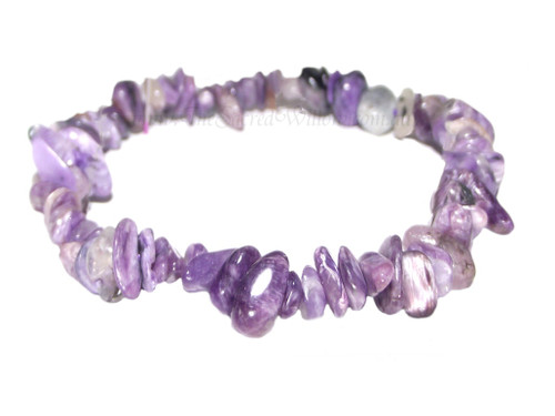 Charoite Gemstone Chip Stretch Bracelet