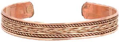 Copper Braided Cuff Bracelet