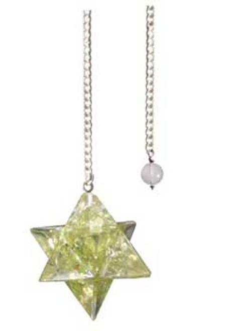 Peridot Merkabah Orgone Pendulum