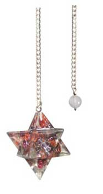 Garnet Merkabah Orgone Pendulum