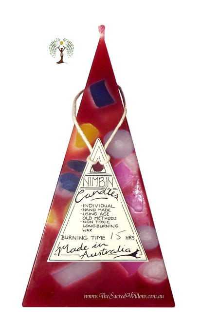Hand Made Funky Pyramid Candle