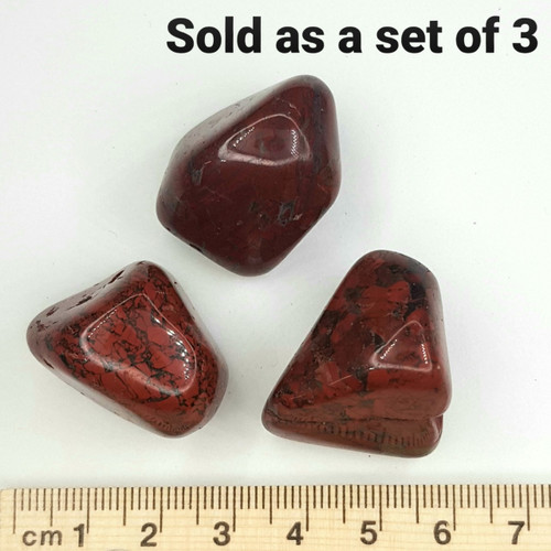 Brecciated Jasper Tumbled Stone 20-30mm (Set of 3)