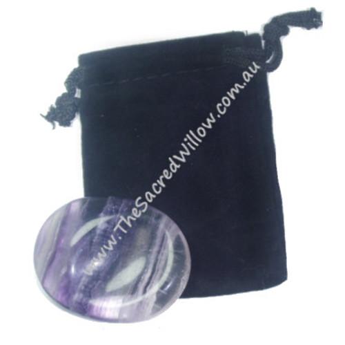 4.5cm Fluorite Worry Stone - Palm Stone