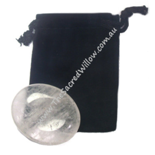 4.5cm Quartz  Worry Stone - Palm Stone