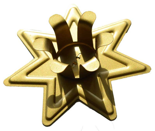 Golden Seven Pointed Star Chime Candle Holder