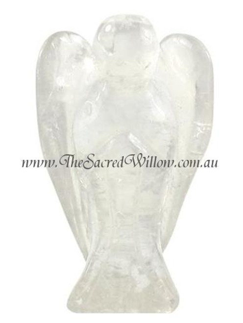 4.5cm Clear Quartz Carved Crystal Angel